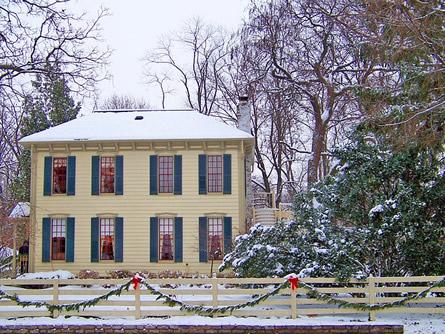 Eigenheim im Winter